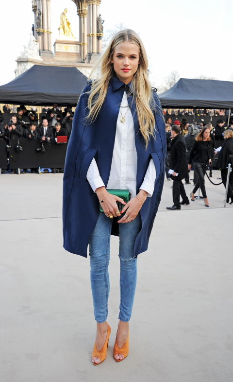 Gabriella Wilde wearing Burberry at