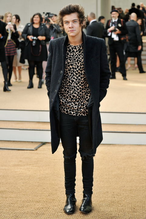 Harry Styles wearing Burberry