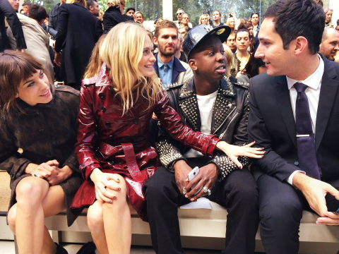 Alexa Cheung, Poppy Delevingne, Jamal Edwards and Kevin